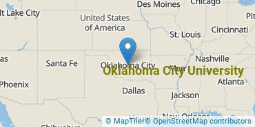 Location of Oklahoma City University