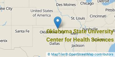 Location of Oklahoma State University Center for Health Sciences