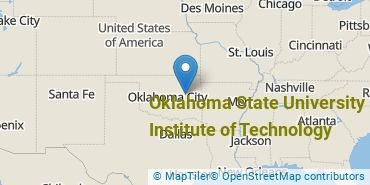 Location of Oklahoma State University Institute of Technology