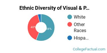 Ethnic Diversity of Visual & Performing Arts Majors at Oklahoma State University Institute of Technology