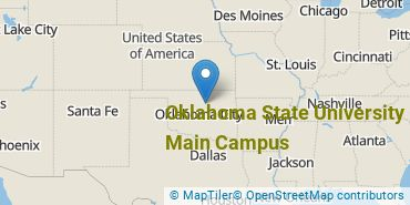 Location of Oklahoma State University - Main Campus