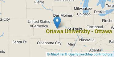 Location of Ottawa University - Ottawa