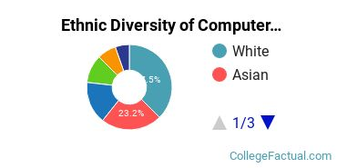 Ethnic Diversity of Computer Science Majors at Pace University - New York