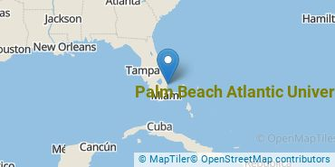 Location of Palm Beach Atlantic University