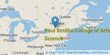Location of Paul Smiths College of Arts and Science
