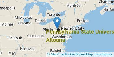 Location of Pennsylvania State University - Altoona