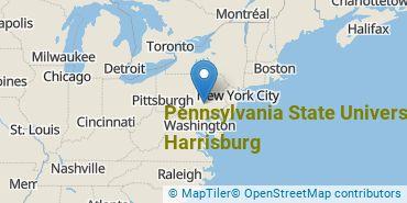 Location of Pennsylvania State University - Harrisburg
