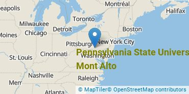 Location of Pennsylvania State University - Mont Alto