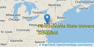 Location of Pennsylvania State University - Schuylkill