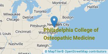 Location of Philadelphia College of Osteopathic Medicine