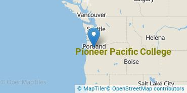 Location of Pioneer Pacific College