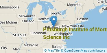 Location of Pittsburgh Institute of Mortuary Science Inc