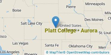 Location of Platt College - Aurora