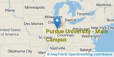Location of Purdue University - Main Campus