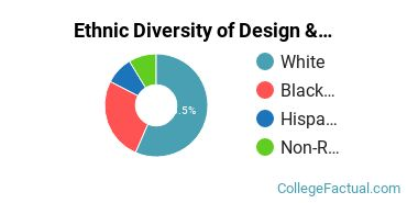 Ethnic Diversity of Design & Applied Arts Majors at Queens University of Charlotte