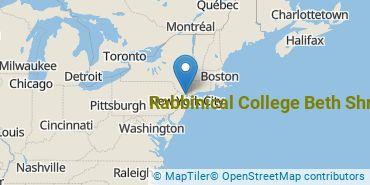Location of Rabbinical College Beth Shraga