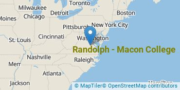 Location of Randolph - Macon College