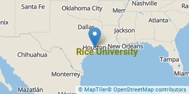 Location of Rice University