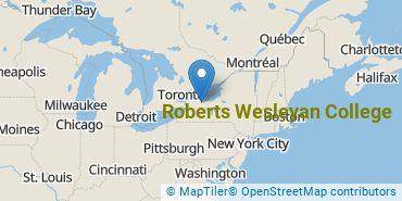 Location of Roberts Wesleyan College