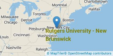 Location of Rutgers University - New Brunswick