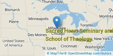 Location of Sacred Heart Seminary and School of Theology