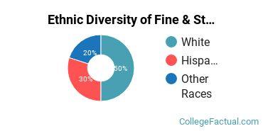 Ethnic Diversity of Fine & Studio Arts Majors at Sacred Heart University