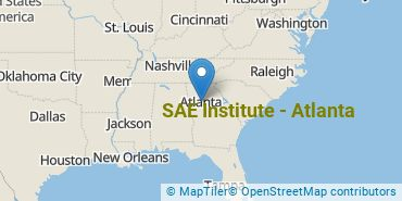 Location of SAE Institute of Technology-Atlanta