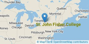 Location of St. John Fisher College