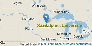 Location of Saint Johns University