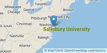 Location of Salisbury University
