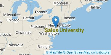 Location of Salus University