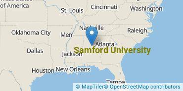 Location of Samford University