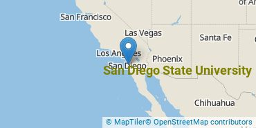 Location of San Diego State University