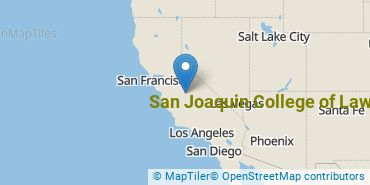 Location of San Joaquin College of Law