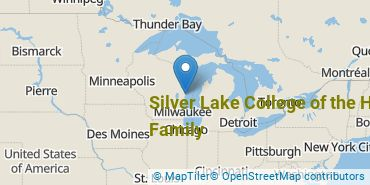 Location of Silver Lake College of the Holy Family