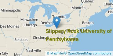 Location of Slippery Rock University of Pennsylvania