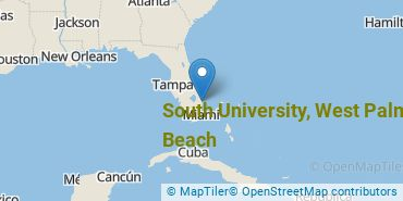 Location of South University - West Palm Beach