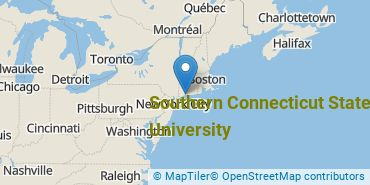 Location of Southern Connecticut State University
