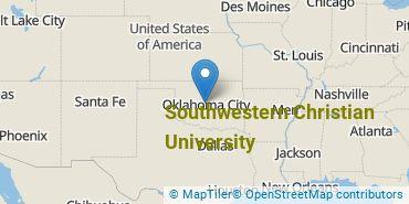 Location of Southwestern Christian University