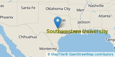 Location of Southwestern University