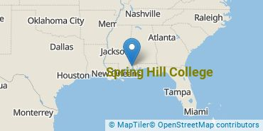 Location of Spring Hill College