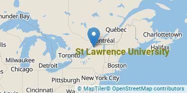 Location of St Lawrence University