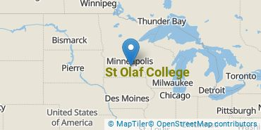 Location of St Olaf College