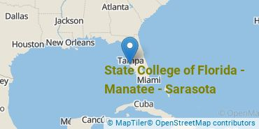 Location of State College of Florida - Manatee - Sarasota
