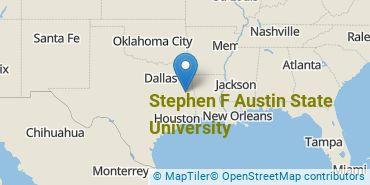 Location of Stephen F Austin State University