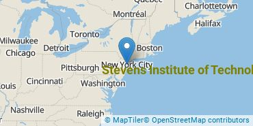 Location of Stevens Institute of Technology