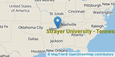 Location of Strayer University - Tennessee