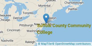 Location of Suffolk County Community College