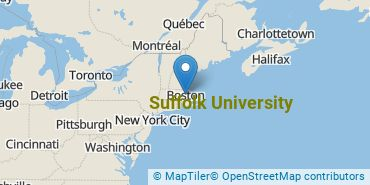 Location of Suffolk University