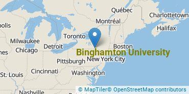 Location of Binghamton University